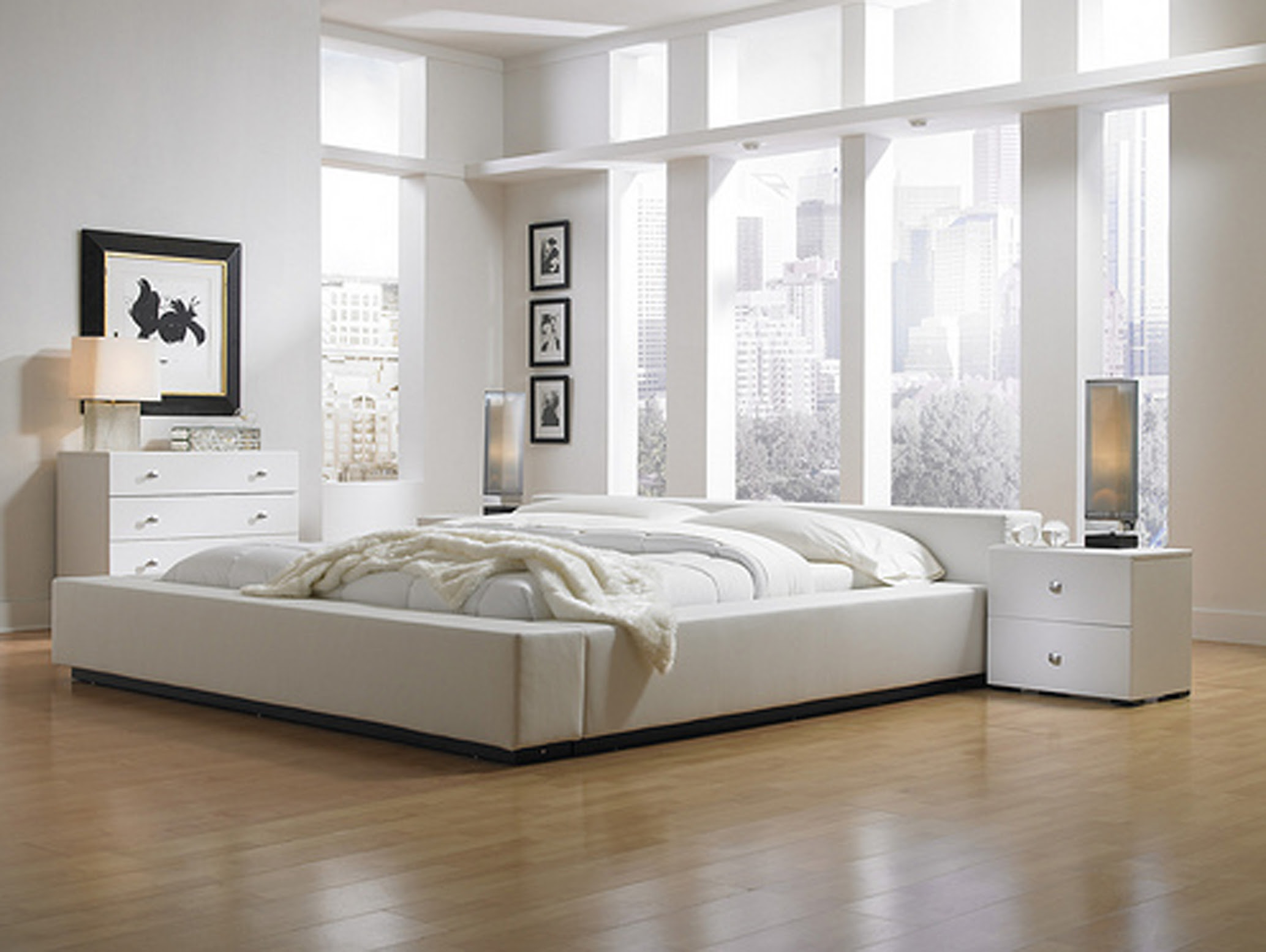 modern bedroom ideas with white furniture