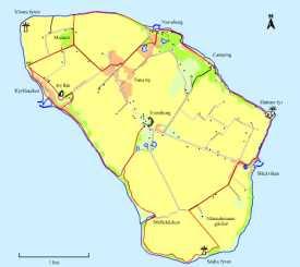 Karta öven ön Ven