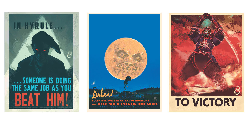 Cop these slick Legend of Zelda propaganda posters screenshot
