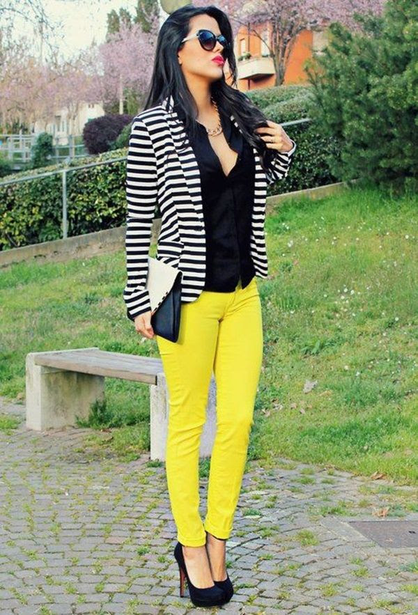 neon yellow pants with black shirt pictures photos and