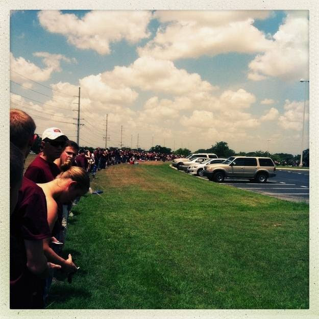 The Texas A&M students that blocked Westboro Baptist Church protesters with a human wall