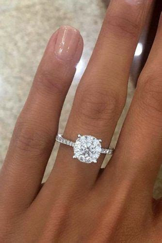 36 Top Round Engagement Rings   wedding / engagement rings