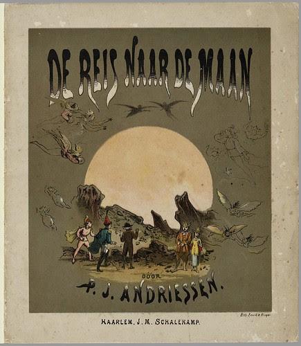 De reis naar de maan  by PJ Andriessen, 1876