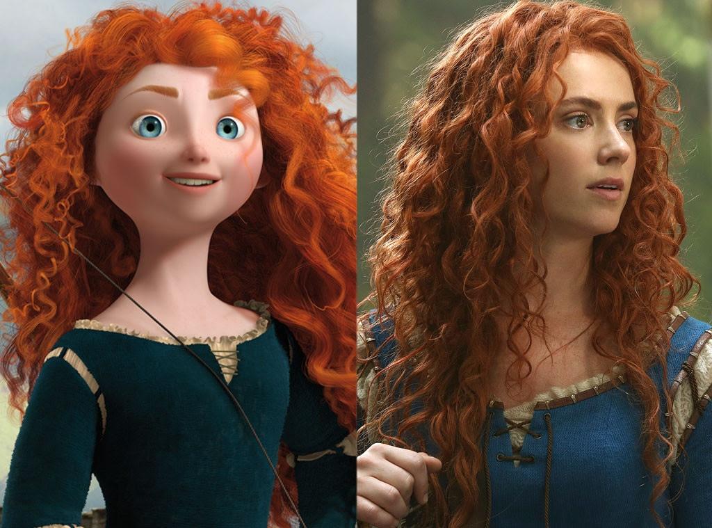 Merida, Brave, Animated Disney vs. Live Action Disney