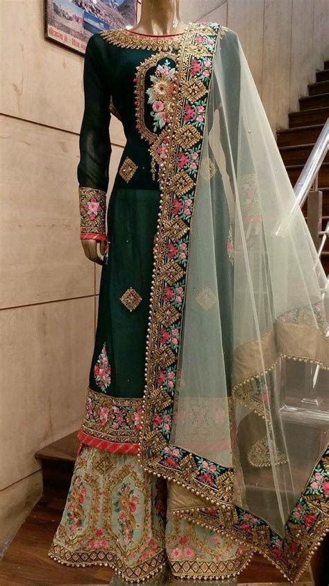 Totally heavy hand embroidery with organza dupatta