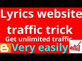 Lyrics website traffic trick by technical gorav