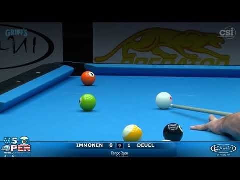 10-Ball: Immonen vs Deuel 2017 US Open