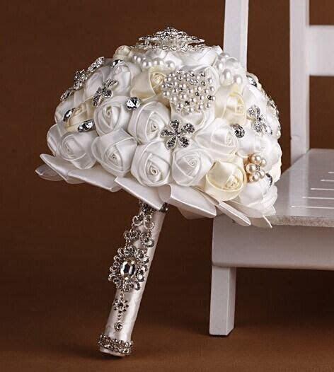 Wedding Dresses Accessories Satin Rose Wedding bouquet