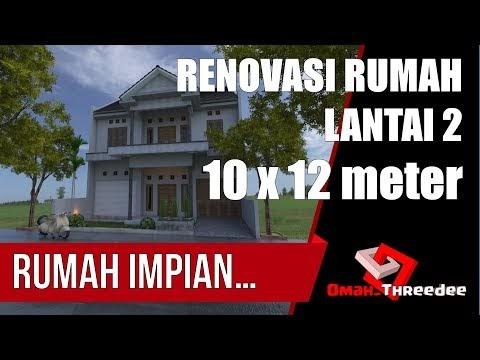 popular renovasi lantai 2 rumah ukuran 10 x 12 meter