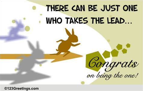 Congrats On Taking The Lead! Free Business & Workplace