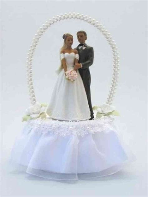 Pearl Arch African American Cake Topper   Wedding Collectibles