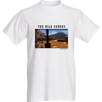 """The Wild Cowboy"" Mens White short sleeve western Town T shirt"