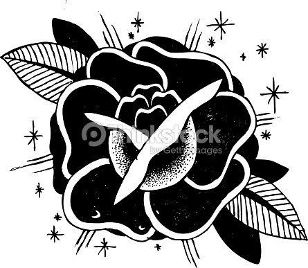 Rosas Tatuaje Boceto Arte Vectorial Thinkstock