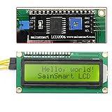 サインスマート(SainSmart) IIC/I2C/TWI 16*02 LCD液晶 モジュール For Arduino UNO MEGA R3 黄色発光