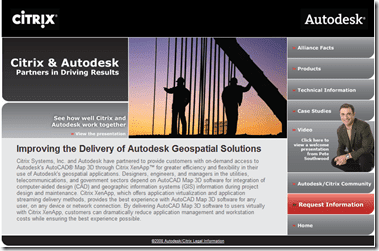 Citrix & Autodesk website