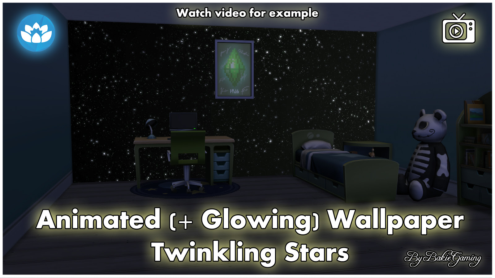 Mod The Sims Animated Wallpaper Twinkling Stars