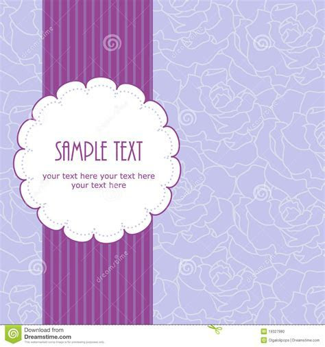 Wedding Frame Design For Greeting Card Purple Stock Photo