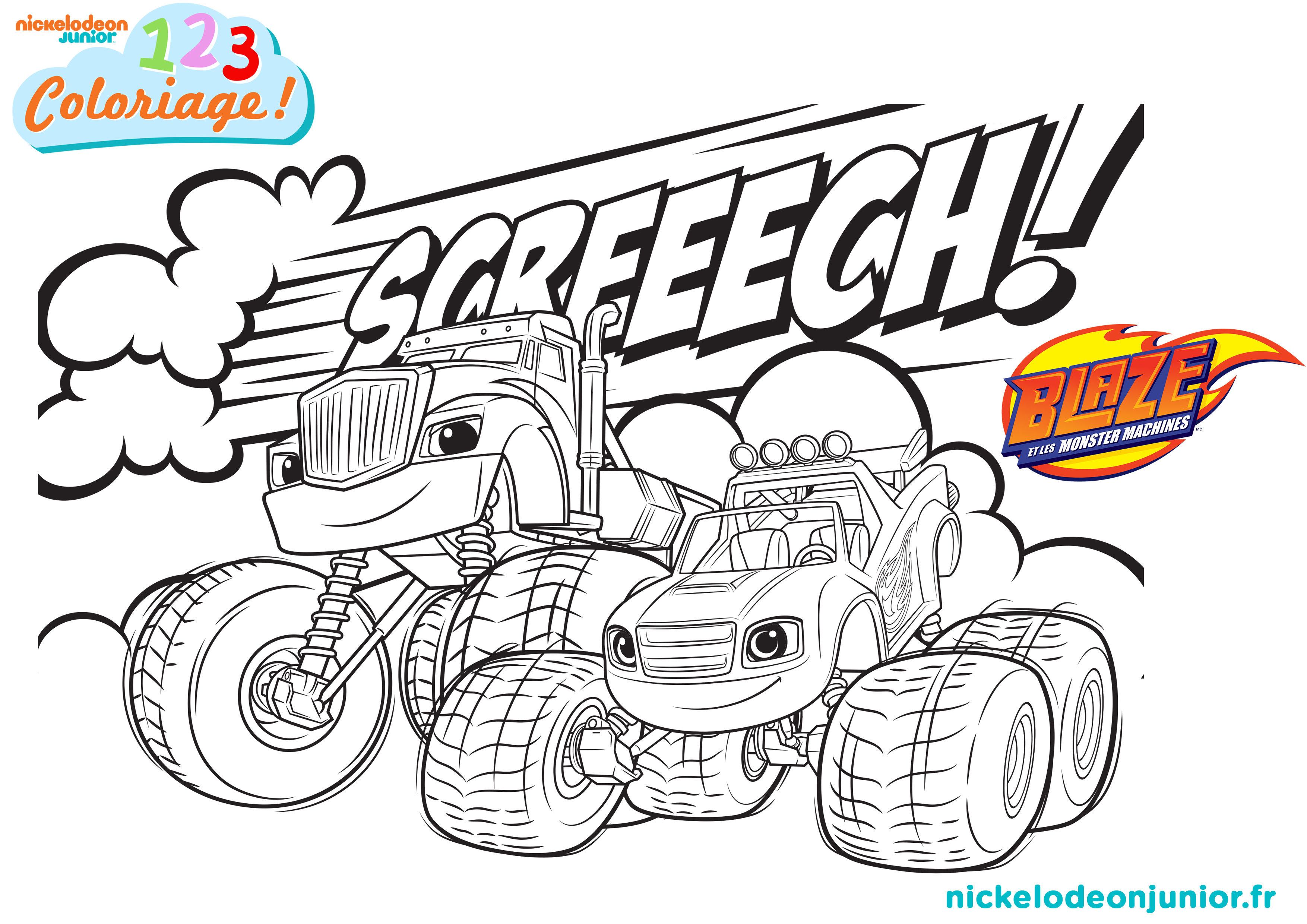 Coloriages Blaze et les Monster Machines