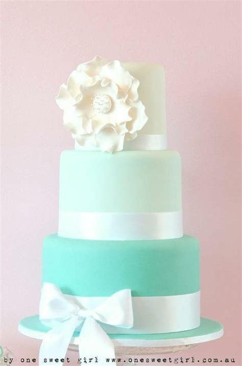 Tiffany Blue Ombre cake   Cakes   Pinterest   Photos