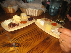 Cheeses and beers at Brick Store