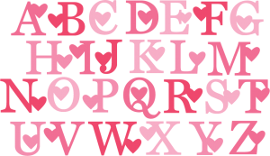 Valentine Monogram SVG cut files valentine alphabet svg cuts free svg files free svg cuts