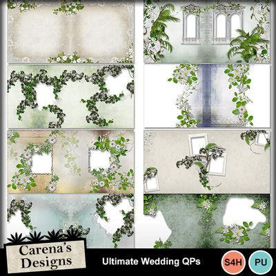 Digital Scrapbooking Kits   Ultimate Wedding Quick Pages