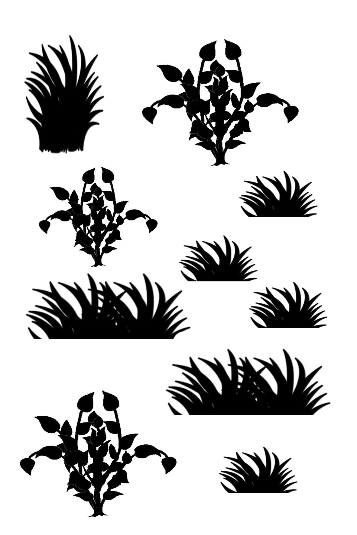 Mini grasses 100 x 120