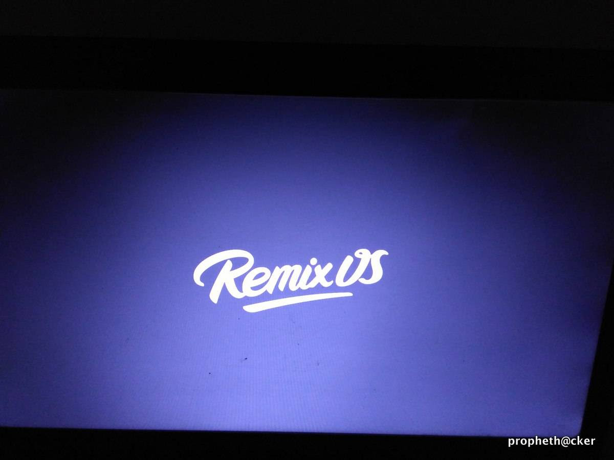 Remix OS Booting