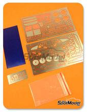 Fotograbados 1/24 Hobby Design - Nissan R390 GT1 - fotograbados + piezas de metal para Tamiya kit TAM24192