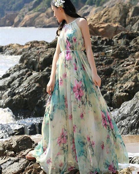 Medeshe(TM) Women's Summer Floral Long Beach Maxi Dress
