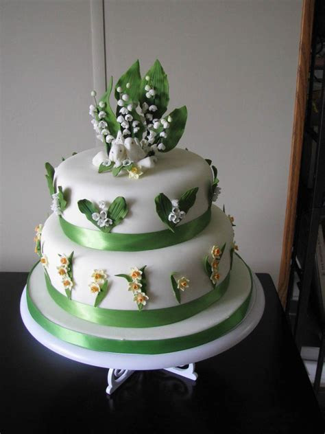 Lily Of The Valley Wedding Cake   CakeCentral.com