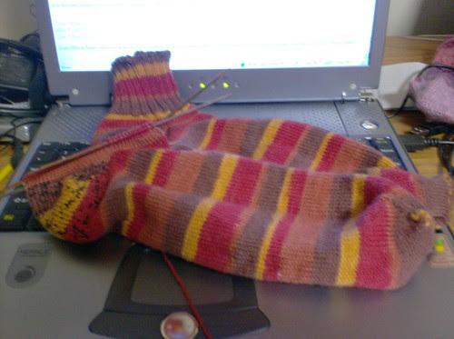 Selfstriping knitted men's socks