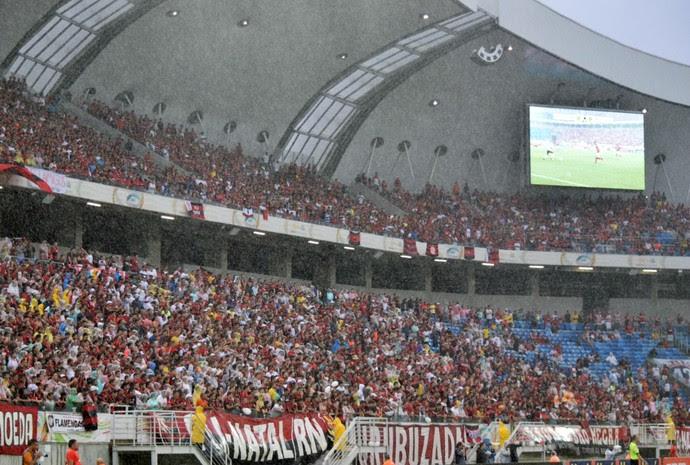 Arena das Dunas - torcida do Flamengo - Flamengo x Fluminense em 2016 (Foto: Andrey Menezes/FLA TV)