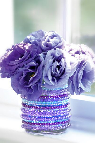 Dollar Store Crafts »  Make a Jeweled Vase