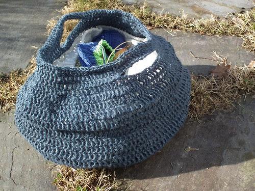 Hekleveske til strikketøyet