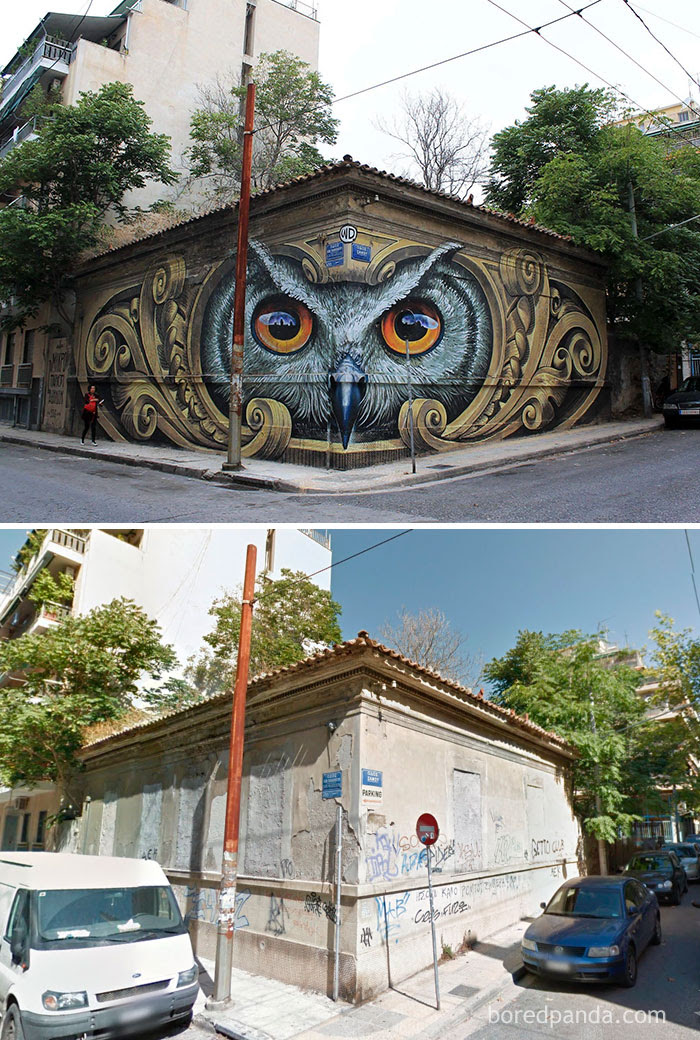 Knowledge Speaks - Wisdom Listens, Street Art In Athens, Greece