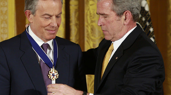 blair and bush had a close relationship during the invasion of afghanistan and iraq