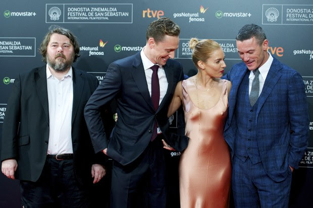 Ben Wheatley, Tom Hiddleston, Sienna Miller e Luke Evans (Foto: Getty Images)