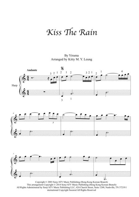 Kiss The Rain Harp Solo Music Sheet Download Topmusicsheet Com