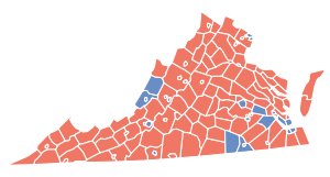 Virginia Gubernatorial Election Results by County, 2009.svg