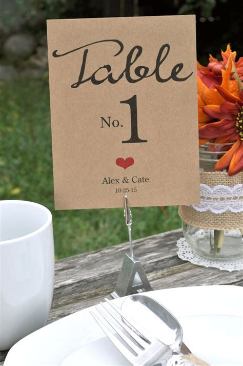 Rustic Wedding Table Numbers ? Personalized Wedding
