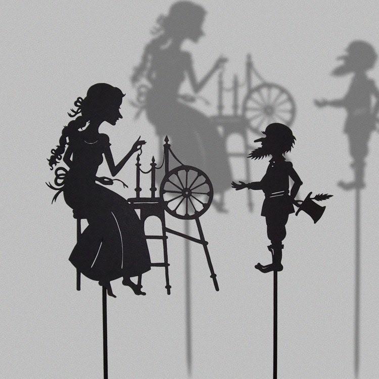 Rumpelstiltskin / Laser cut Shadow Puppets/ Fairy Tale Series