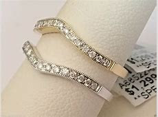 Diamond Ring Guard Wrap Yellow Gold Solitaire Enhancer Wedding Vintage Migraine   eBay