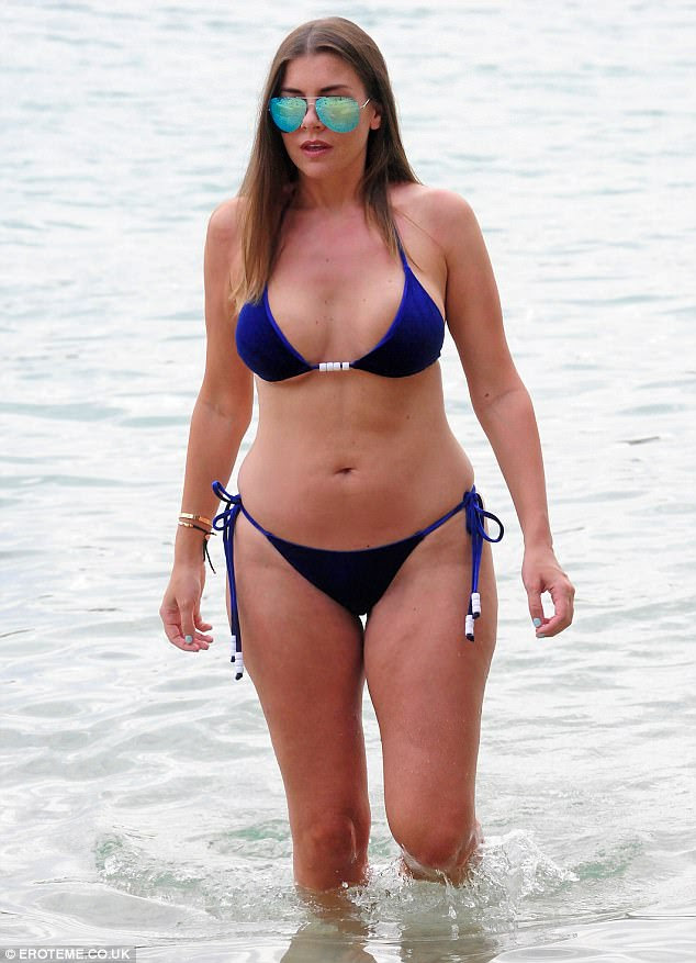 Imogen Thomas Shows Off Breast Reduction In Mallorca