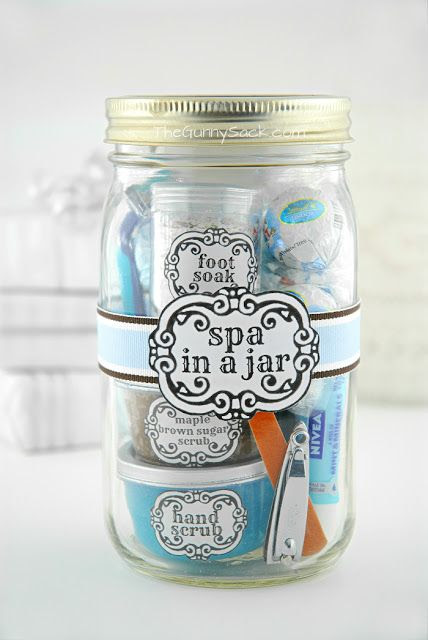 Spa in a jar! Fun gift idea for Mother's Day!