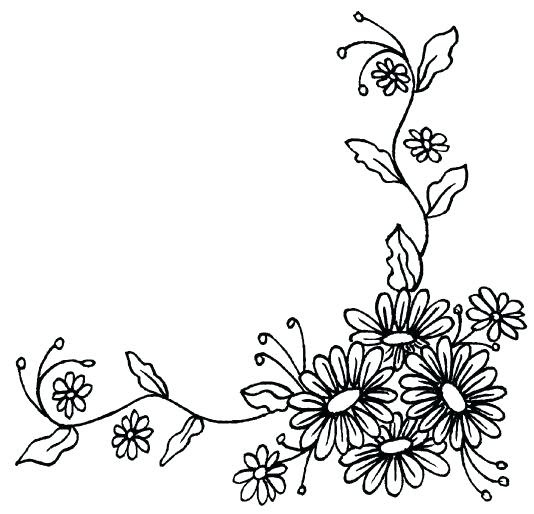 Corner Flower Drawing At Getdrawingscom Free For Personal Use