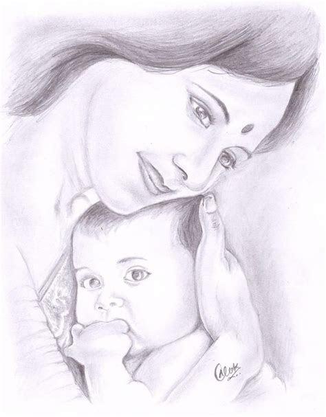 mothers love sketching  alok kumar   sketches