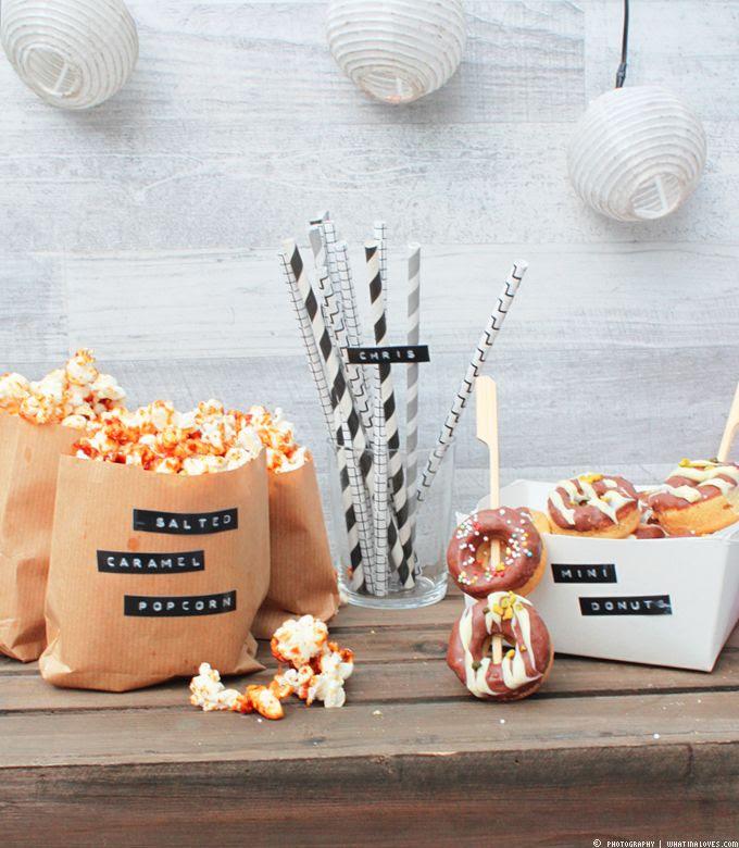 Filmabend, Popcorn, Donuts
