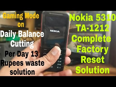 Nokia 5310 TA-1212 Complete Factory Reset Solution