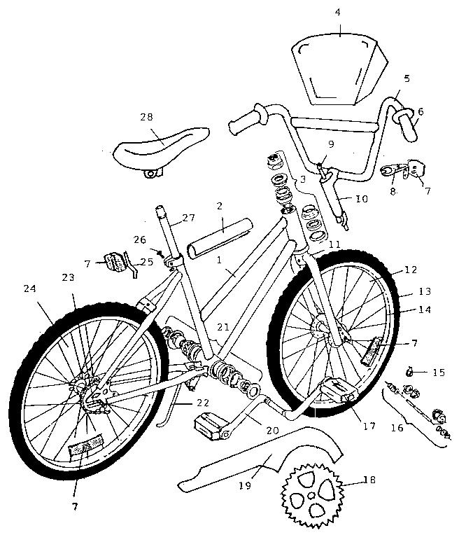 Bicycle: Kent Bicycle Parts